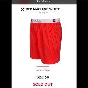 Ethika red machine underwear